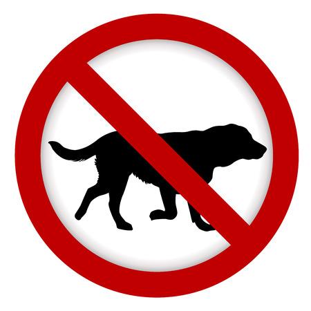 Interdiction signe de chien illustration Banque d'images - 93847314