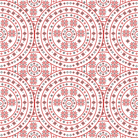 Handmade background with traditional ornament