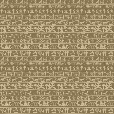 Fondo transparente de jeroglíficos egipcios antiguos Ilustración de vector
