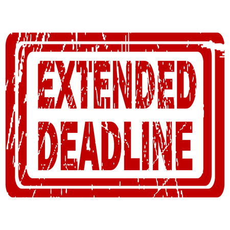 Extended deadline red rubber stamp