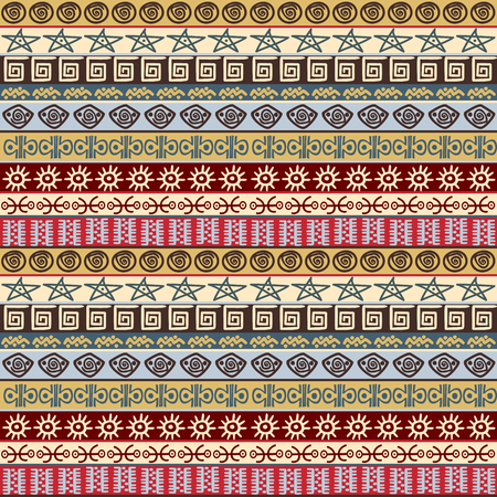 Tribal ethnic symbols wrapping paper