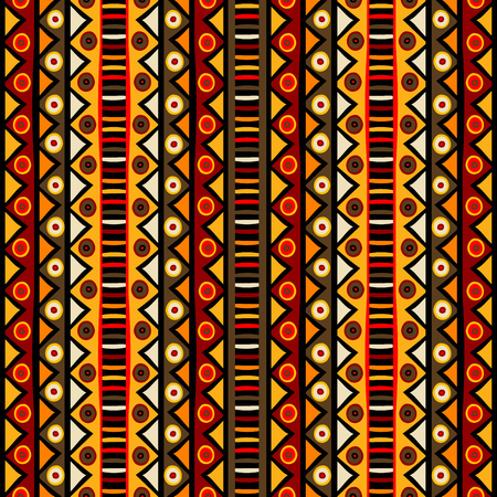 African doodle colorful motifs background