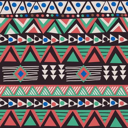 African ethnic motifs background Ilustrace