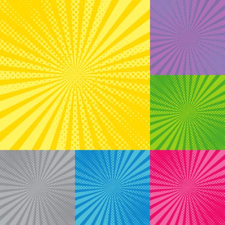 Retro radial background with sunburst