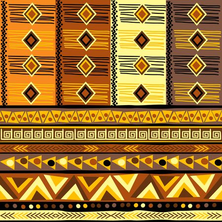 Decorative background with african geometric motifs