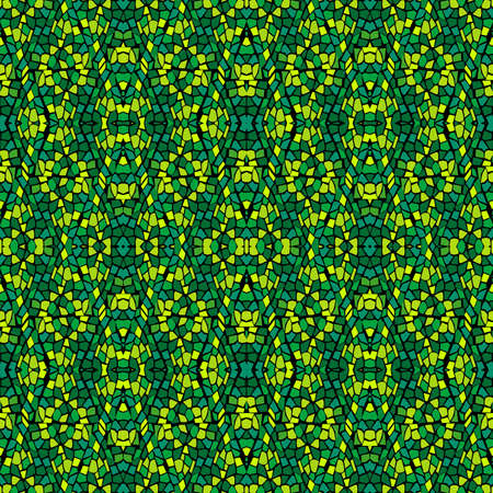 Green abstract geometrical seamless pattern Ilustrace
