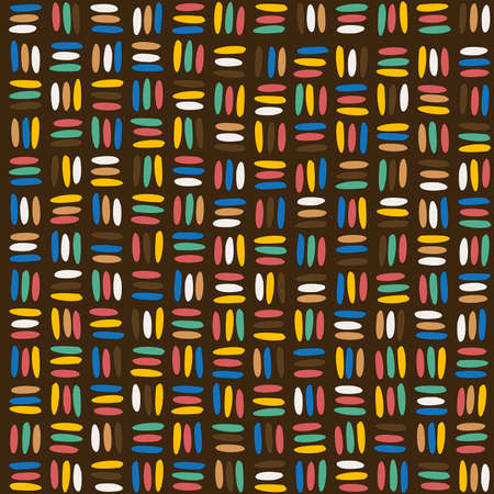 Seamless african background with stripes colorful lines
