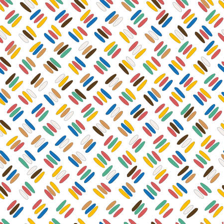 Seamless pattern with oblique colored sticks Ilustrace