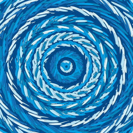 Circular design with blue stick lines Ilustrace