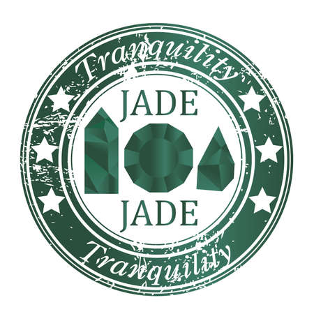 Ruber stamp with jade gems and jade benefit