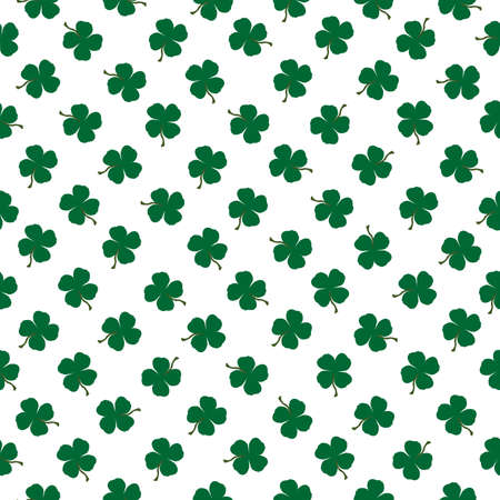 Seamless pattern with clovers on white background Ilustrace