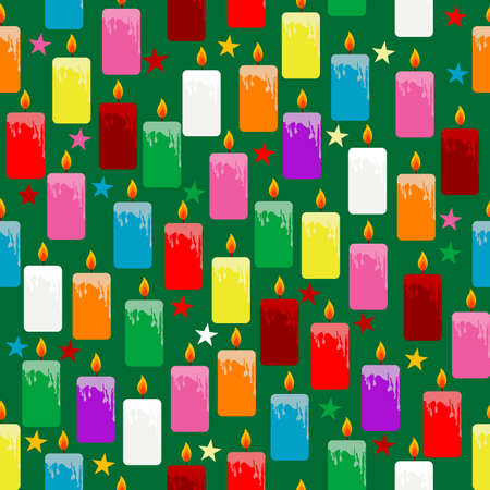 Colorful candles seamless pattern wrapping paper