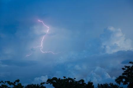 thunderhead: Lightning strikes Stock Photo
