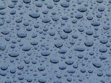 raindrops on blue background