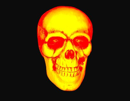 blazing skull great for use with motorcycle clubs or mags. Stock Photo