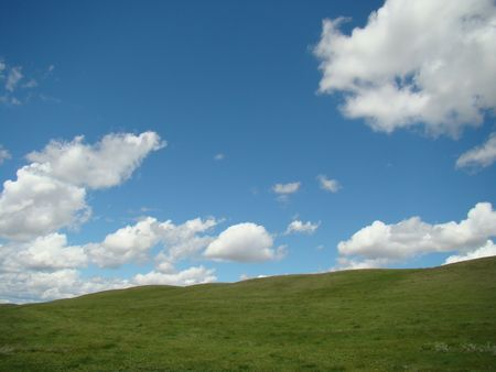 Background Of Sky And Grass Stock Photo