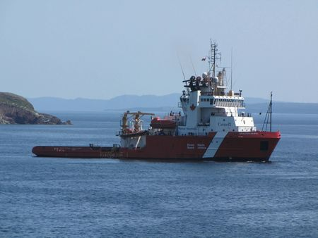 US Coast Guard boat at rescus operation  Stock Photo - 9868245