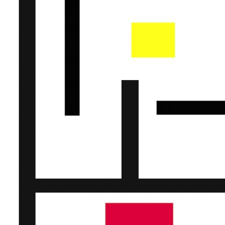 Mondrian type abstract art