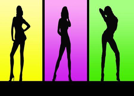 Sexy Girls Silhouette