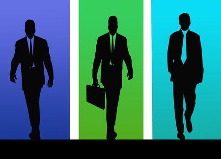 Business Men Silhouette