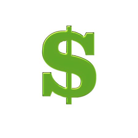 royalty free: Green Big Money Sign