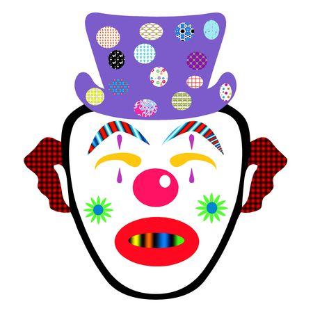 Fuuny faced clown Stock Photo