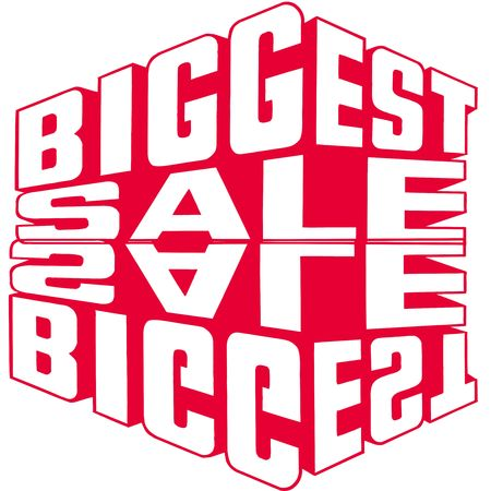 Big red sale sign photo