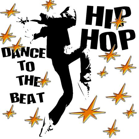 logo: Hip hop dancer