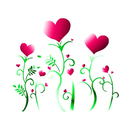 royalty free: hearts and flowers