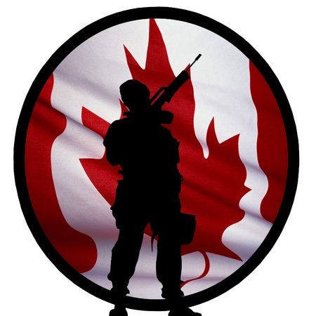 weapons: Canadian Soldier Logo Stock Photo