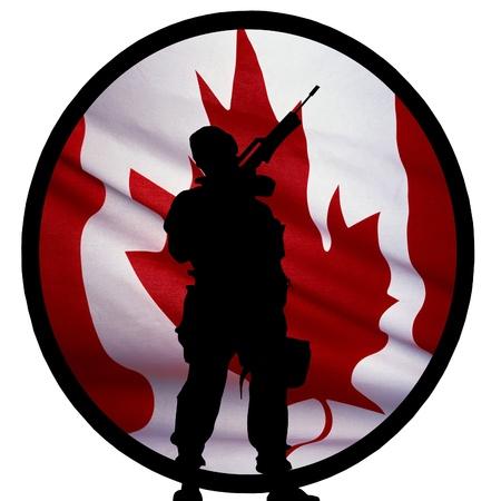 Canadian Soldier Logo Archivio Fotografico