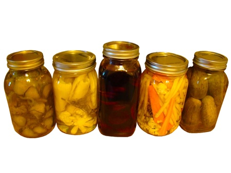 Isolated Pickled Dills,                                photo