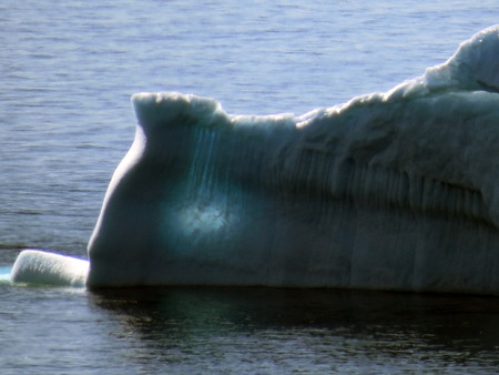 large melting iceberg