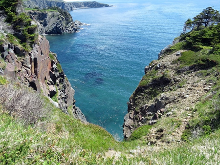 horsetooth rock: cliffs to the ocean Stock Photo
