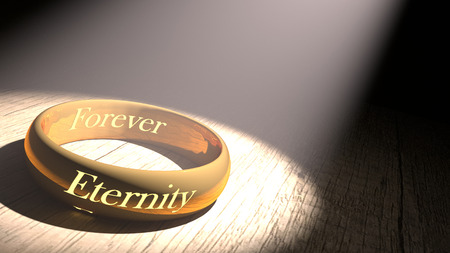 eternity: golden ring with eternity engraved