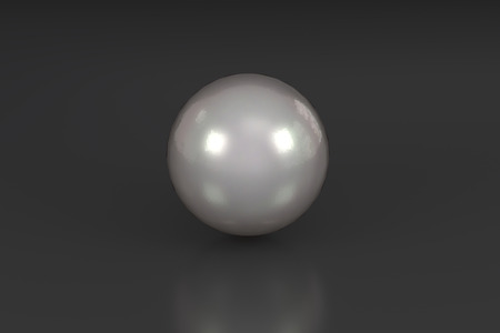 shiny black: 3D rendering of a shiny pearl in black glossy background