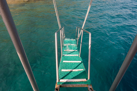 black moor: Boat stairs to the sea