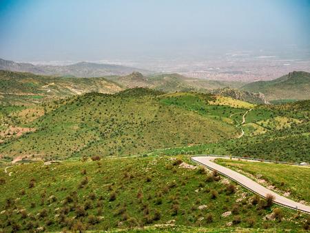 Landscape of natural green area of afyon, turkey