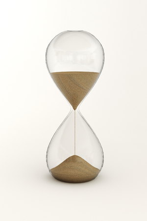 3D rendering of hourglass on white background