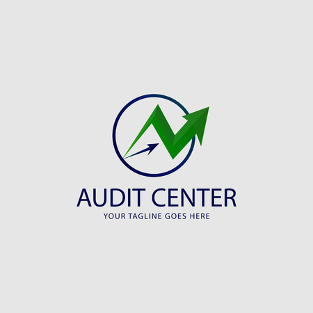 Accounting icon logo, Arrow and Circle concept