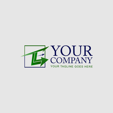 Accounting icon logo, Arrow and Square concept
