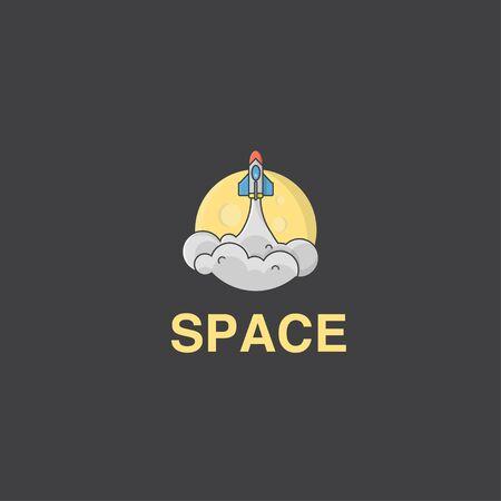 icon logo of rocket glide