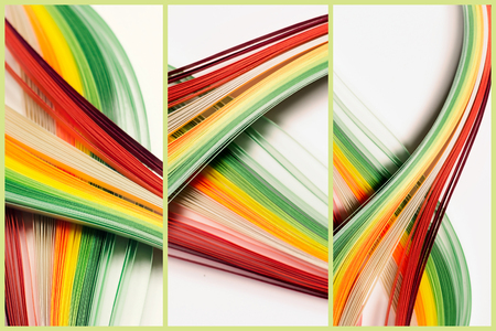 Abstract lines triptych background