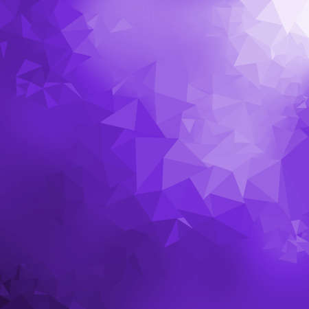 Violet gradient low poly triangles shape abstract background illustration, trendy dynamic design background Standard-Bild