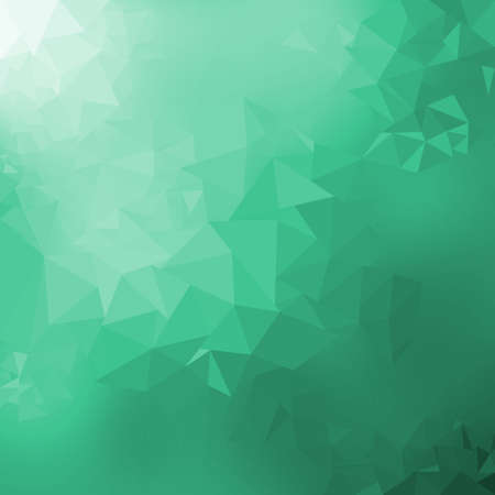 Green gradient low poly triangles shape abstract background, trendy dynamic design background Standard-Bild