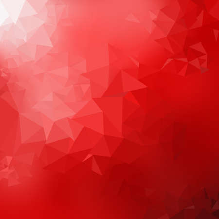 Red gradient low poly triangles shape abstract background, trendy dynamic design background Standard-Bild