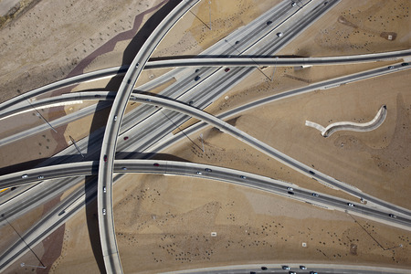 interchange: Southwest Interchange viewed from above Stock Photo