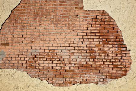 stucco: Brick and stucco backdrop