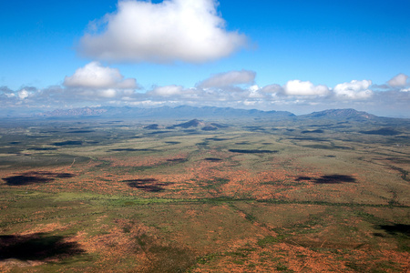 Scenic aerial view of southeast Arizona near Tombstone Stock Photo
