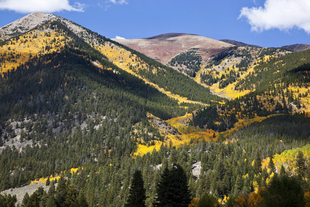 Fall Colors in the Rocky Mountains above Twin Lakes, Colorado Stock Photo